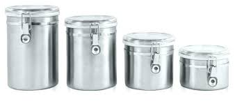 stainless kitchen canisters stainless steel canisters listcleanupt com