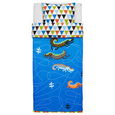 interior blue ikea childrens bed sheets in loveable pattern and