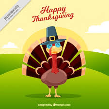 happy thanksgiving day with a smiling turkey vector free