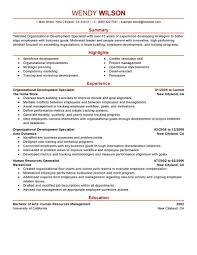 Logistic Resume Samples by Organizational Development Specialist Sample Resume Cheque