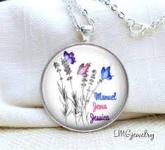 Mothers Necklace With Children S Names Mother U0027s Necklace Family Tree With Butterfly Necklace Children U0027s