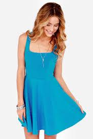 blue dress pretty bright blue dress skater dress 42 00