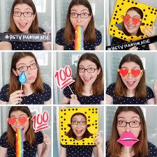 diy photo booth props diy snapchat inspired photobooth props kavett