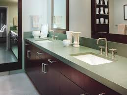 cool decorating ideas using black granite countertops and gorgeous design ideas using rectangular white sinks and silver single hole faucets also with brown