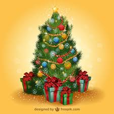 realistic christmas tree vector vector free download
