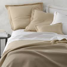 Beige Coverlet Castela Luxury Bedding Matouk