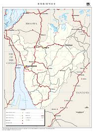 Burundi Africa Map by University Of Michigan Nre545 1997 Monograph