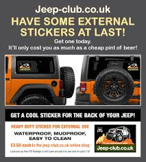 jeep beer decal heavy duty jeep club co uk club sticker for external use u2013 jeep