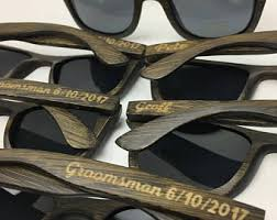 wooden groomsmen gifts groomsmen sunglasses etsy