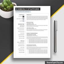 professional resume template cv template word us letter and a4