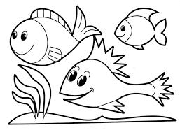 coloring pages winsome fish drawings kids easy draw