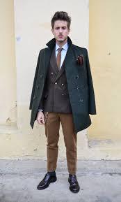 men s dark green pea coat dark brown double breasted blazer blue