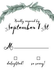 response card wedding rsvp cards match your color style free basic invite