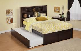 newport platform bed with bookcase headboard flat panel foot bo
