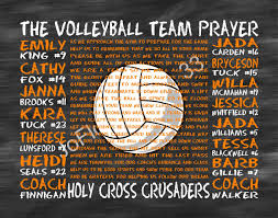 the volleyball team prayer personalized volleyball team