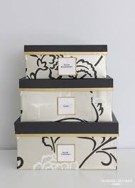 DIY Wallpaper Covered Storage Boxes