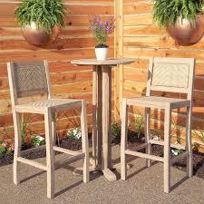 matalinda 3 piece teak outdoor bar table set outdoor