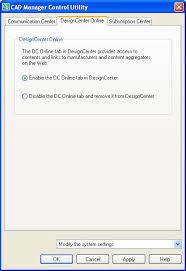 design center cad autocad cad manager control features