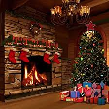 christmas photo backdrops gladsbuy christmas fireplace 10 x 10 computer