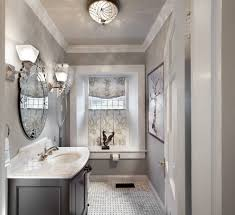 French Powder Room Ceiling Lighting Design Hall Transitional With Recessed Alcoves