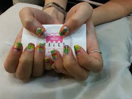 plaid print nails u2013 done by nice nails in far east plaza using