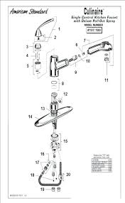 standard kitchen faucet breathtaking american standard kitchen faucet parts charming