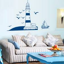 popular lighthouse wall murals buy cheap lighthouse wall murals diy vinyl removable wall sticker lighthouse at the beach seaside wall mural decal home decor pegatinas