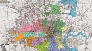 houston map districts houston city council district map leftist