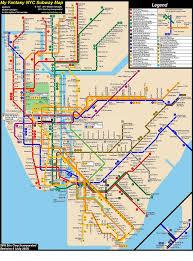 Nyc Mta Map Fantasy Nyc Subway Map Revision 8 By Ecinc2xxx On Deviantart