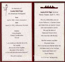 funeral memorial cards card from the funeral service of louise pope