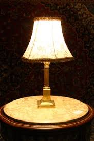 brass corinthian column table lamp u2014 renaissance