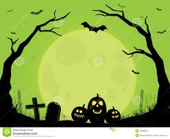green halloween spooky scene royalty free stock photo image