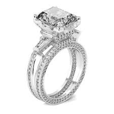 lab created engagement ring luxurious 5 0 ct emerald cut lab created 3