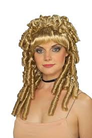 saloon womens halloween costume blonde nellie wig bo beep saloon southern belle ringlets