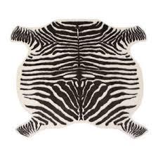 Ikea Hide Rug Ikea Animal Print Zebra Print Faux Fur Hide Rug Carpet Cream Brown