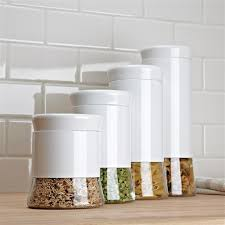 white kitchen canisters canisters inspiring modern kitchen canisters blue glass canister