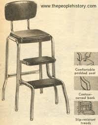 Step Stool Chair Combination Furniture For Your Home In The 1950 U0027s Prices And Examples