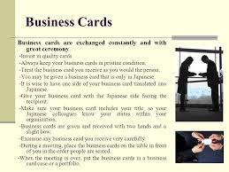 Japan Business Card Etiquette Japan Ppt Video Online Download