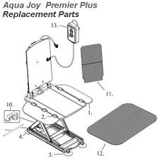Neptune Recliner Bath Lift Replacement Parts Aquajoy Premier Plus Bath Lift