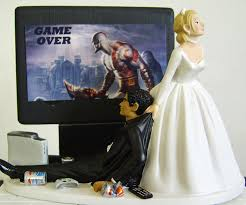 gamer cake topper junkie wedding cake topper dudeiwantthat