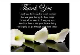 funeral thank you notes how to write thank you cards for funeral free premium templates