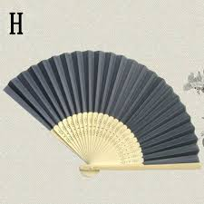 held folding fans womens held folding fan trendy bamboo paper party