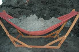 wooden hammock stand with hammock manufactured in south africa