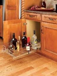 Best PullOut Shelves Images On Pinterest Base Cabinets - Kitchen cabinet drawer rails
