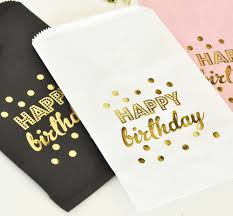gold favor bags happy birthday gold foil candy buffet bags set of 12