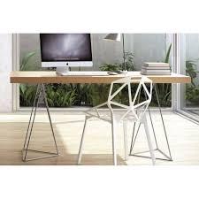 bureau desing bureaux meubles et rangements bureau design trestles chêne inside75