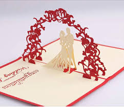 pop up wedding invitations online shop wedding 3d pop up invitation card bridal and groom