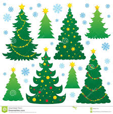 christmas tree silhouette theme 9 royalty free stock images