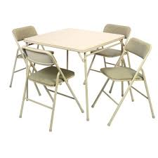 Folding Table And Chair Sets Impressive Folding Table And Chairs Plastic And Steel Folding