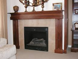 classic cherry wood mantel for fireplace with carving furnishing